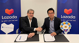 F J Benjamin and Lazada Singapore sign MOU for strategic partnership to boost online-offline sales