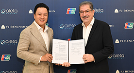 F J Benjamin and fintech Aleta Planet sign MOU for UnionPay virtual debit card for customers